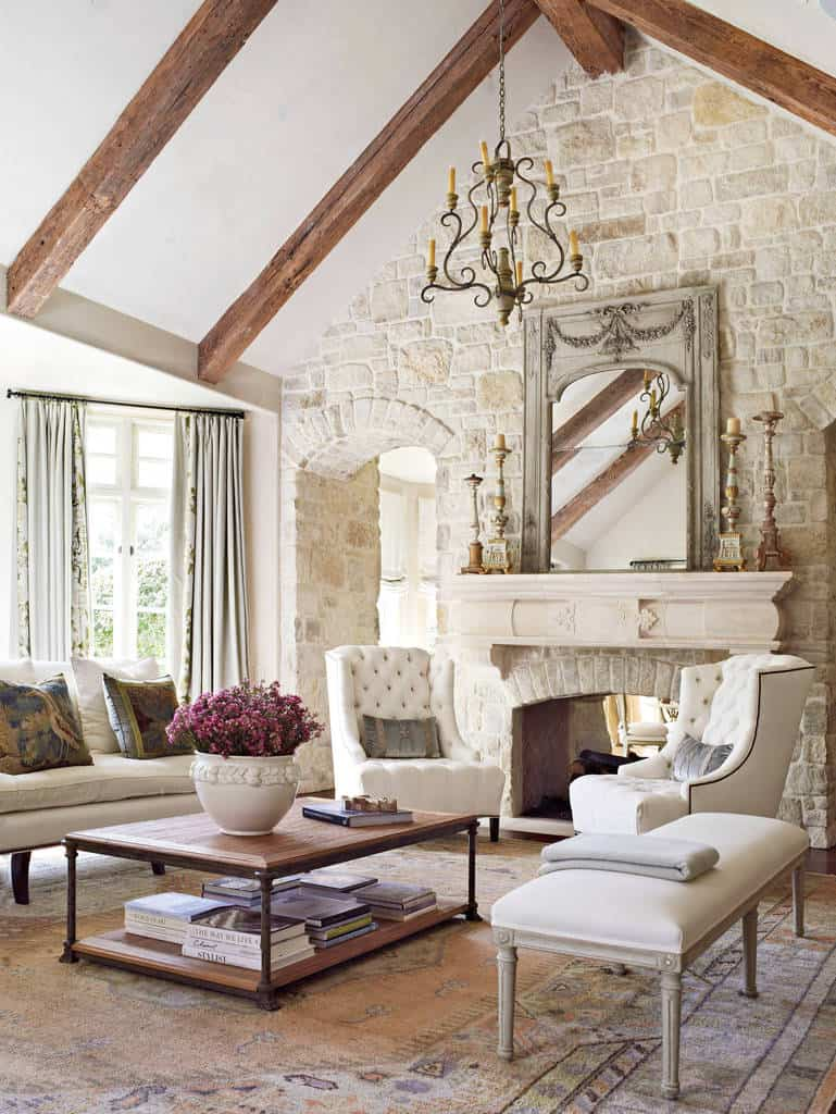 40 Shabby Chic Family Room Designs And