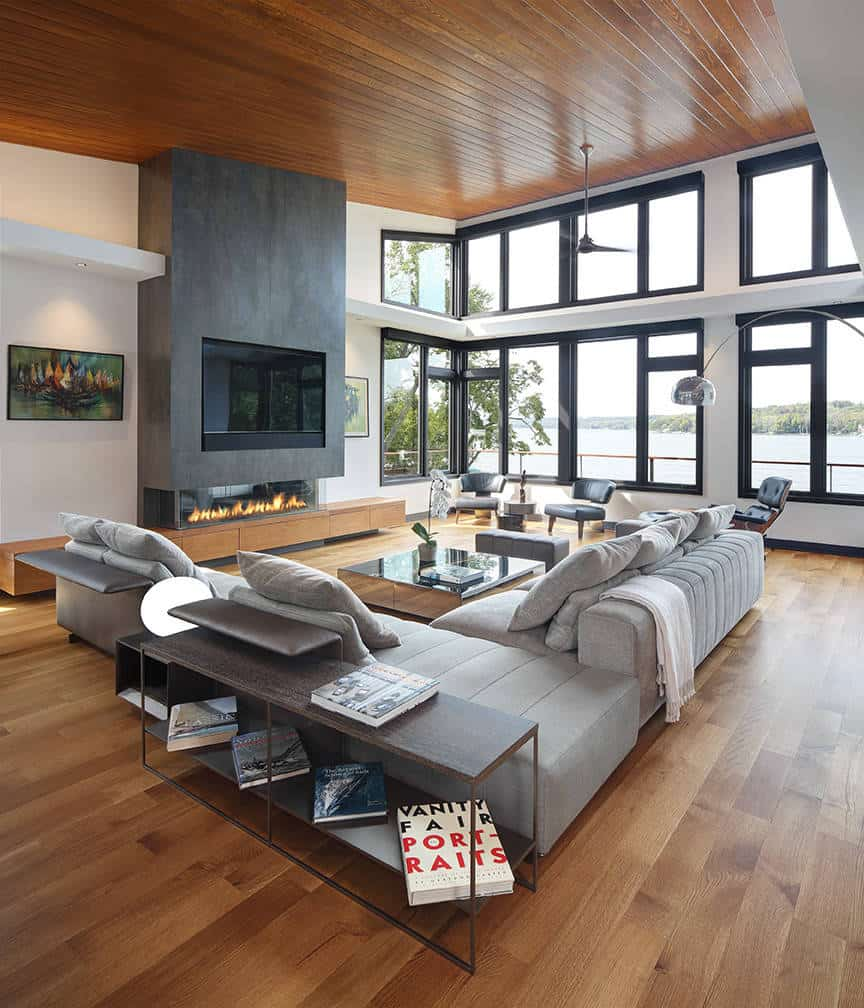 38 Contemporary Family Room Designs And
