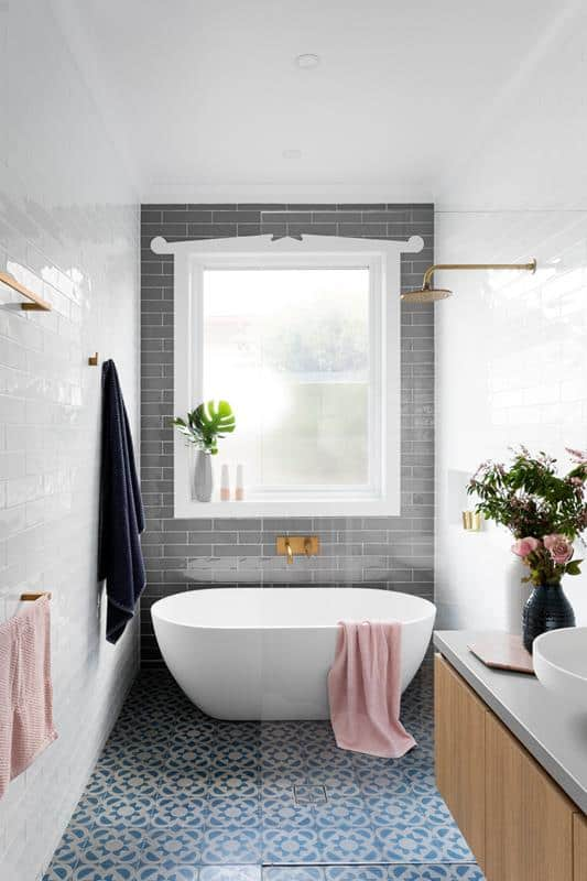 Trendy Gray Subway Tile
