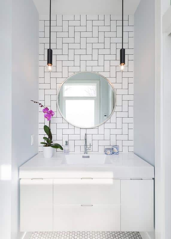Patterned Subway Tile Wall