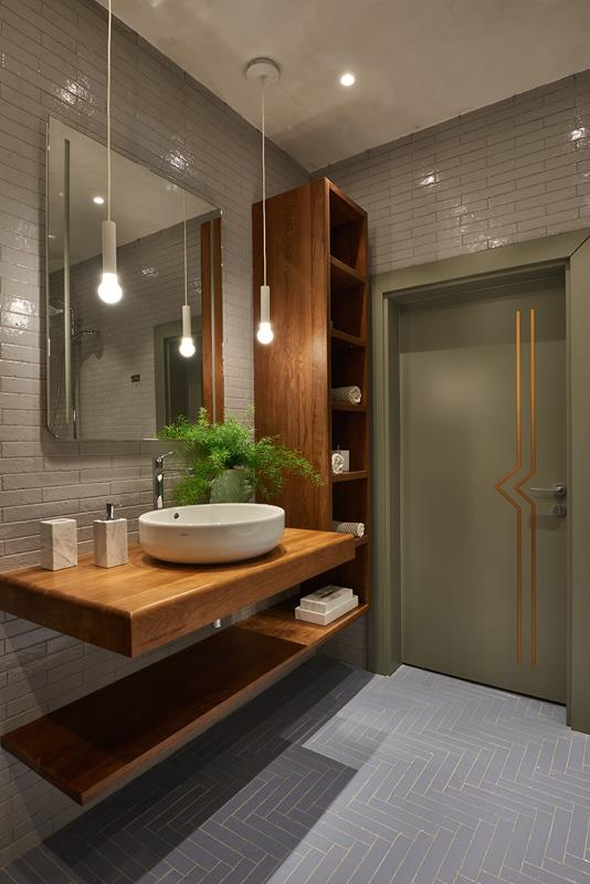 Contemporary Elegant Gray Subway Tile