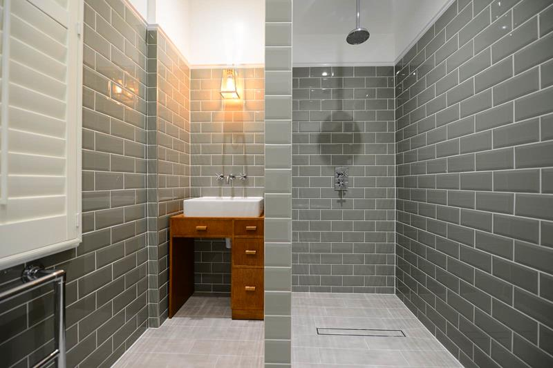 Beautiful Darker Gray Subway Tile