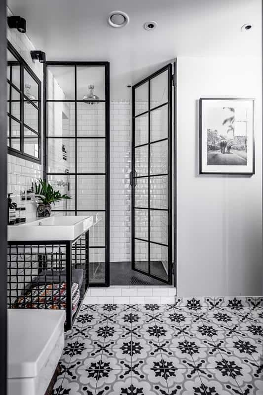 Classic White Subway Tile with Contrast