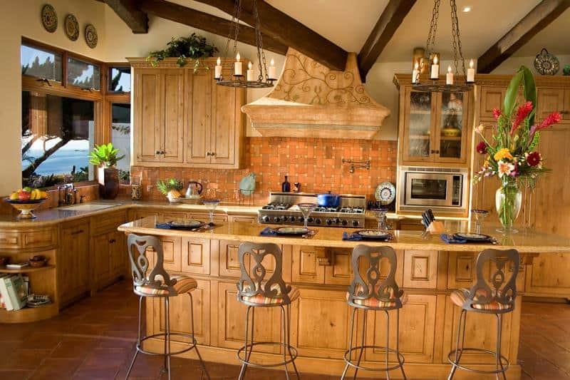 Vibrant European Style Kitchen