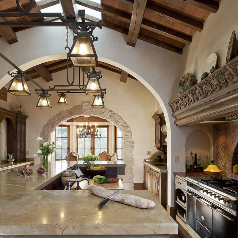 Bold and Classic European Kitchen