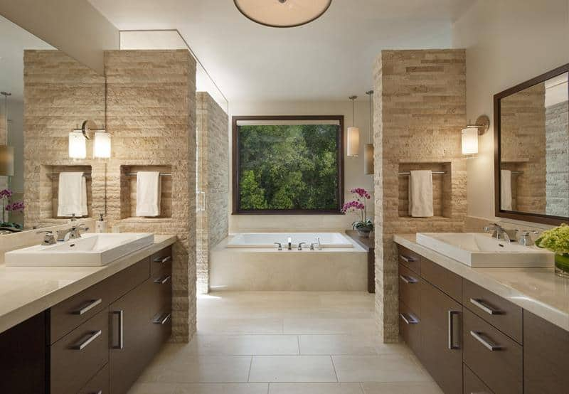30 Beautiful Brown Bathroom Design Ideas Home Awakening
