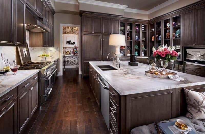 35 Stunning Dark Wood Kitchen Designs Home Awakening