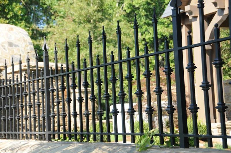 25 Wrought Iron Fence Design Ideas Photo Gallery Home