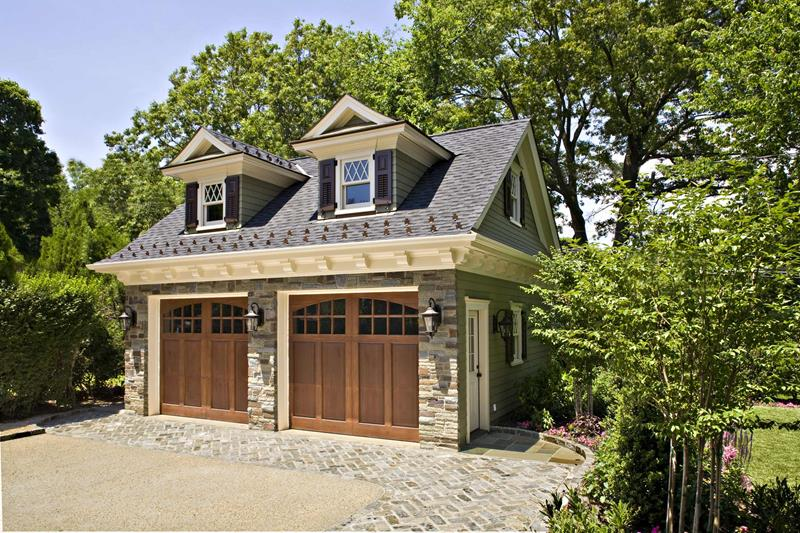 Cozy Hardwood Garage Doors