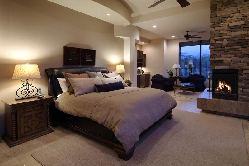 bedroom sitting area