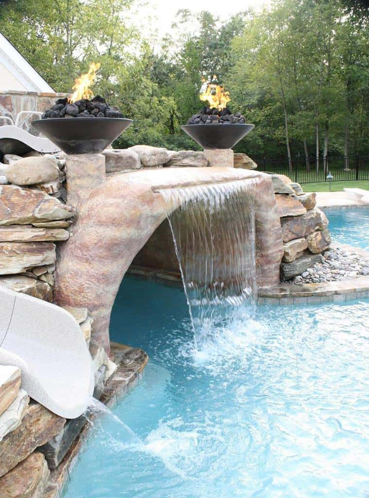 25 Pool Waterfall Ideas And Designs Photos Home Awakening