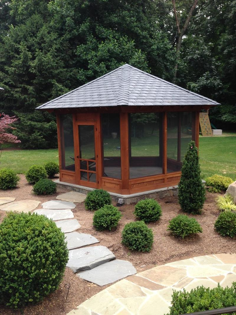 20 Screened Gazebo Designs And Ideas