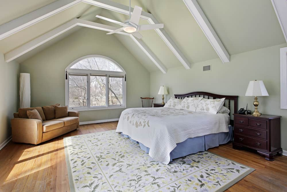 Master bedroom with large rug
