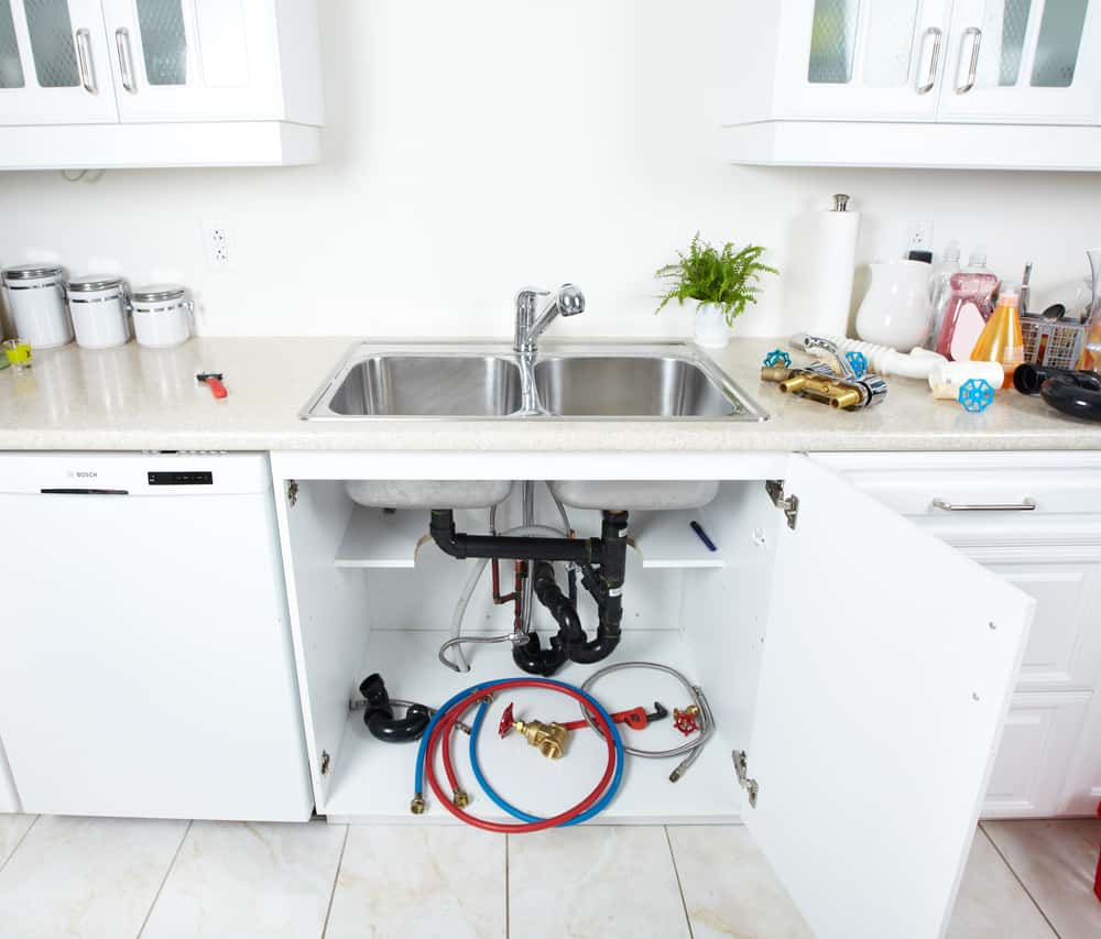 kitchen sink pipes and drain