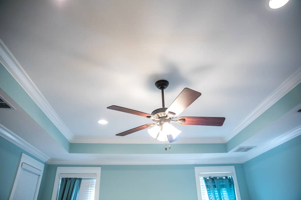 close up of ceiling fan