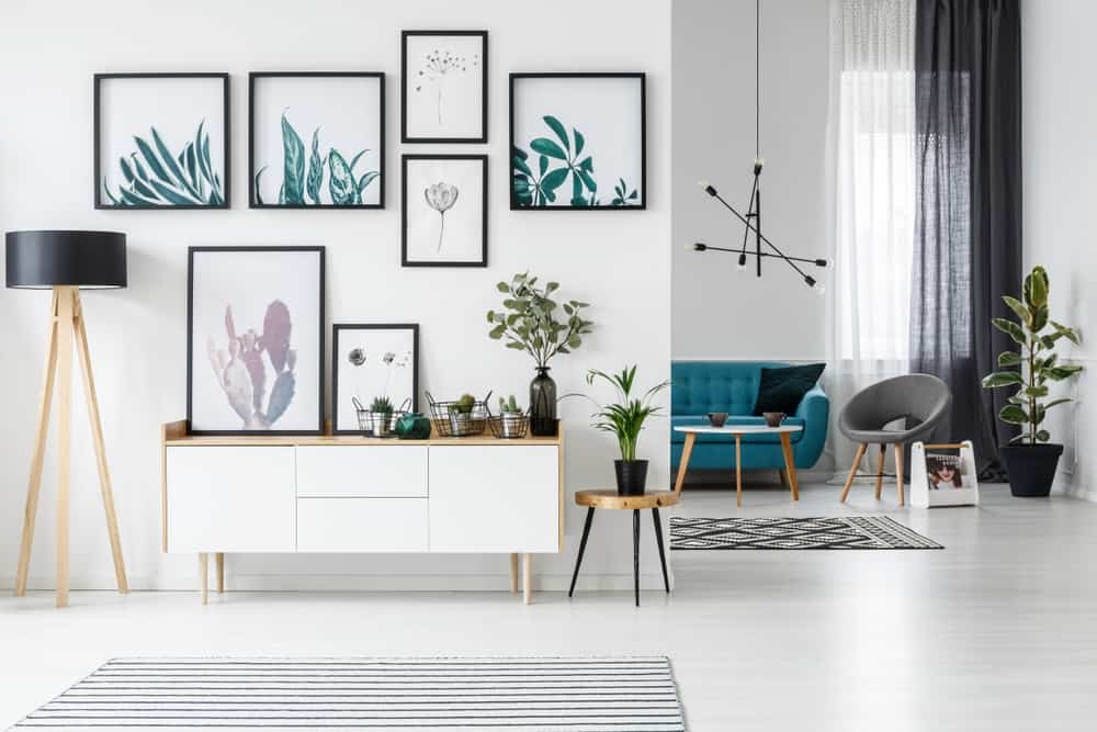 framed images on a wall