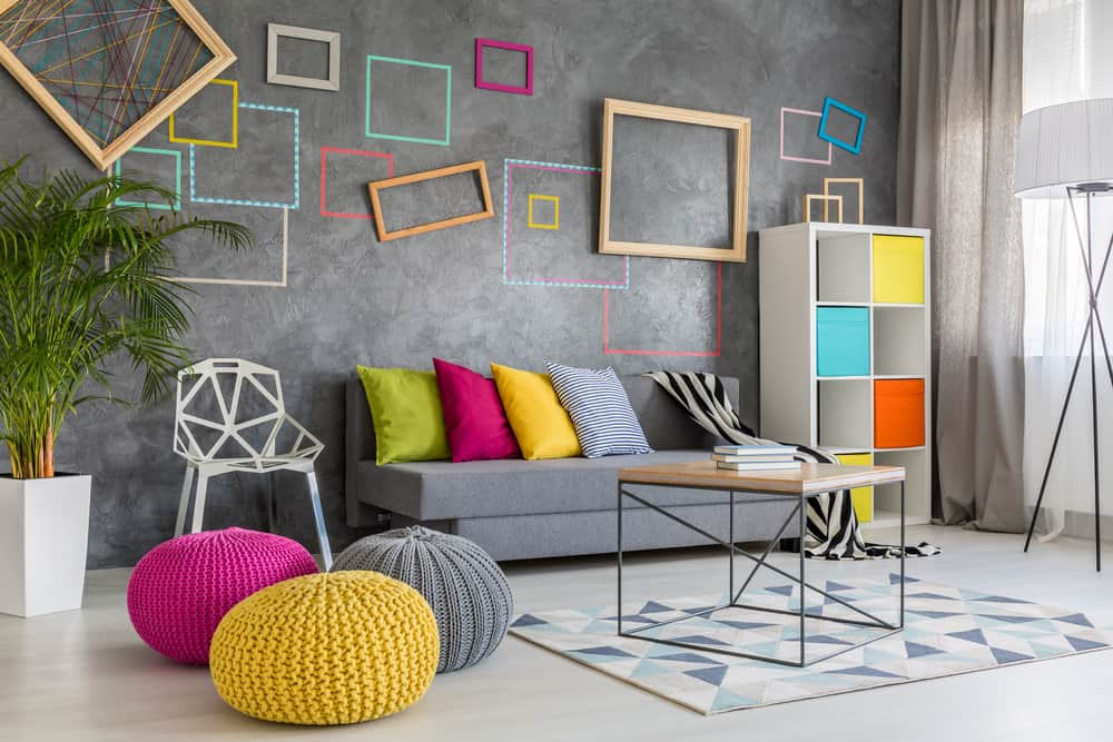 modern colorful lounge