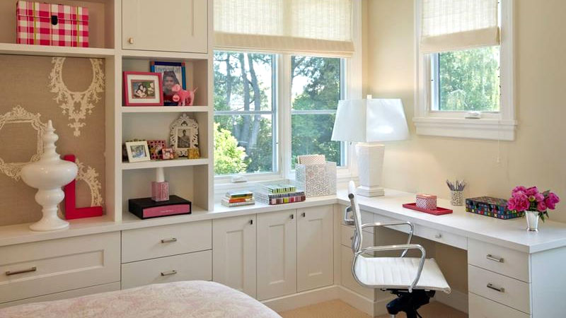 bedrooms with a desk ideas