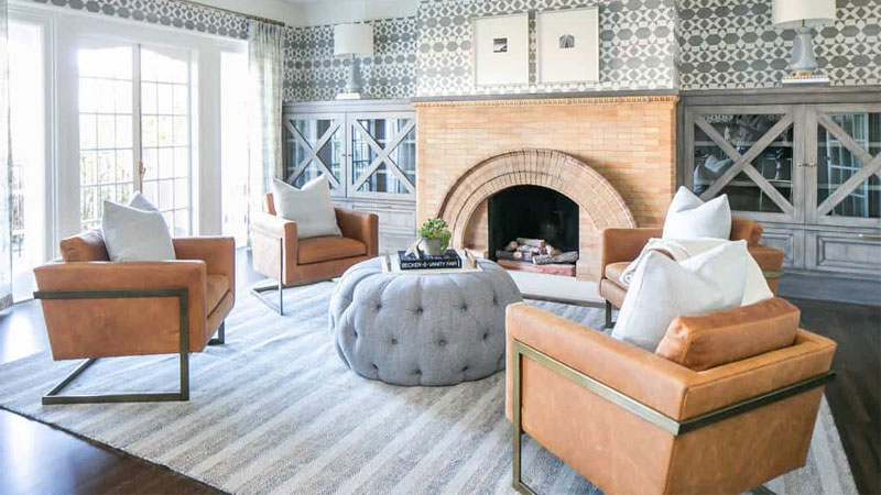 colorful family room designs