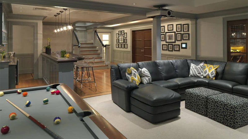colorful ideas for basement