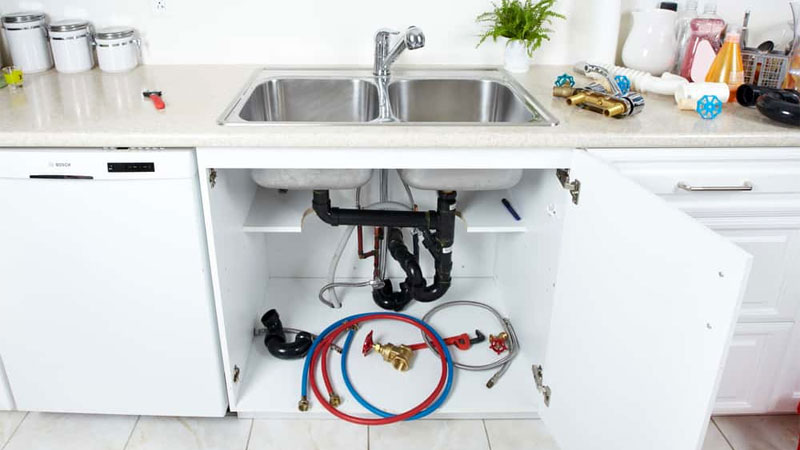 how to plumb kitchen sink